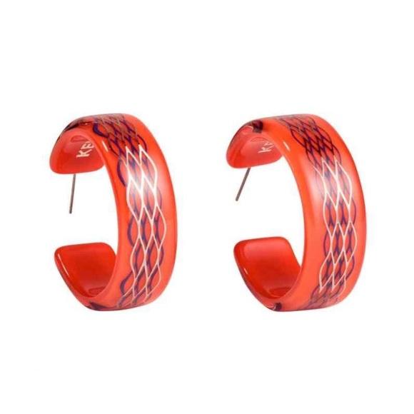 bb7b608cd314d KENZO x H&M Hoop Earrings - Orange NWT